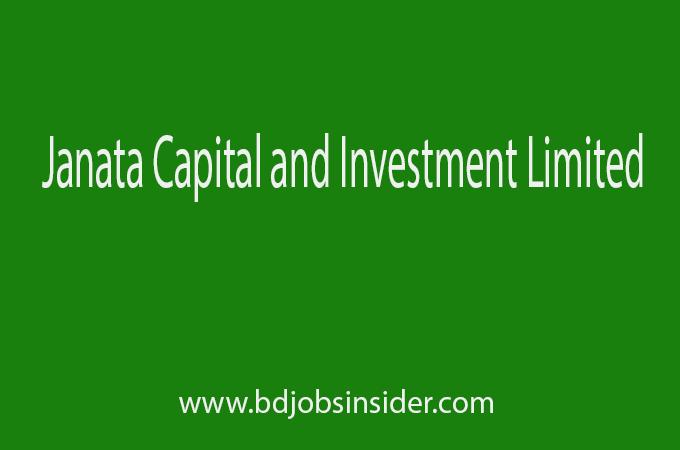Janata Capital and Investment Limited job Circular 2019