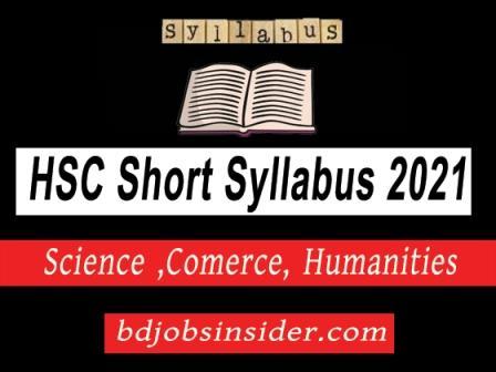 HSC short syllabus 2021