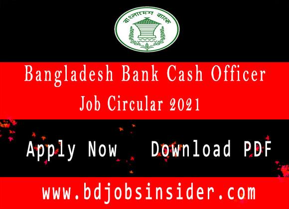 bangladesh-bank-cash-officer-job-circular-2021